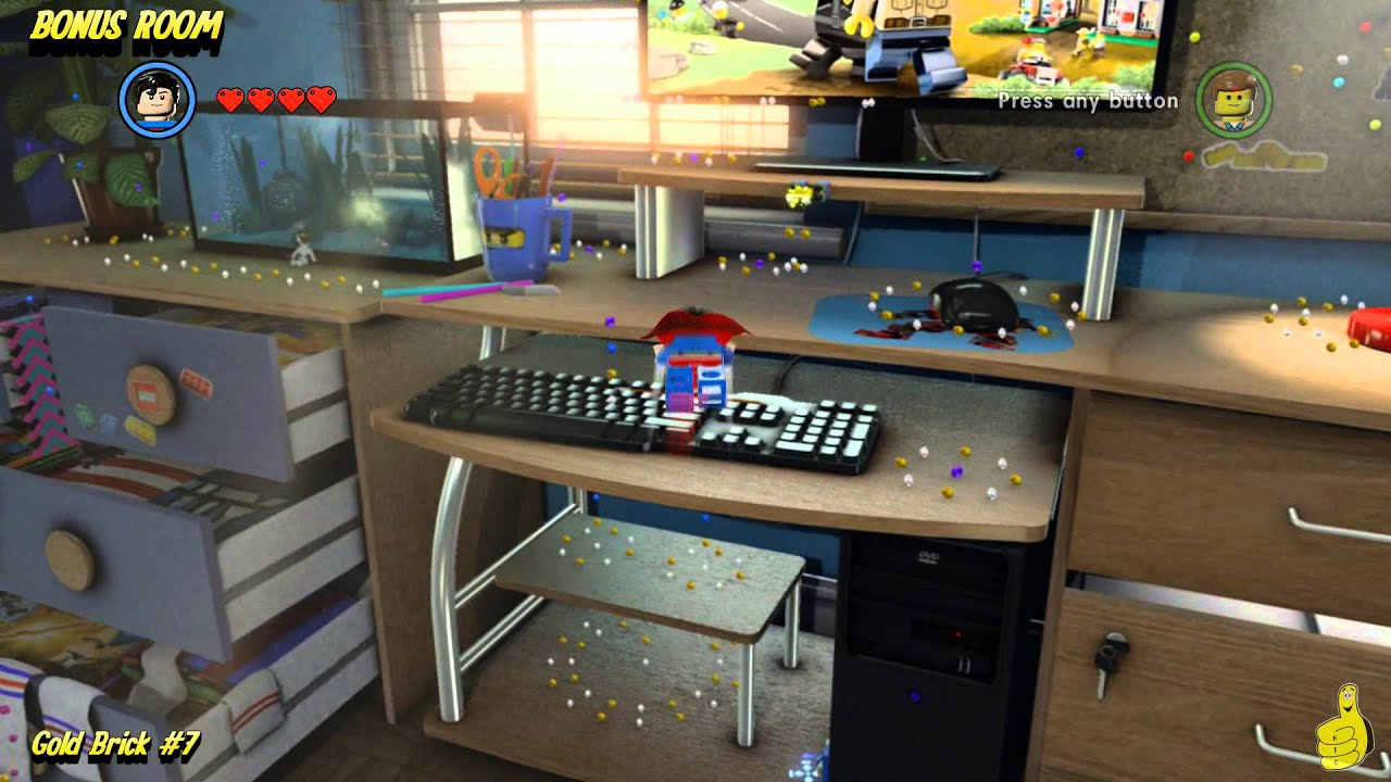 The Lego Movie Videogame Bonus Room Gold Brick Locations