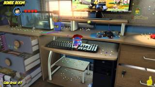 The Lego Movie Videogame: Bonus Room Gold Brick Locations (All 10 Bonus Room Gold Bricks) - HTG
