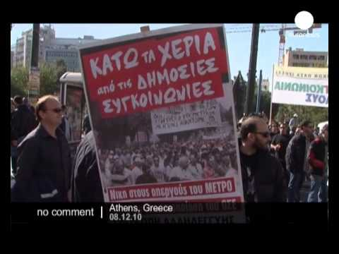 Public transport strike causes chaos in Greece - no comment