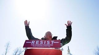 Bernie Sanders & Elizabeth Warren Speak In Boston