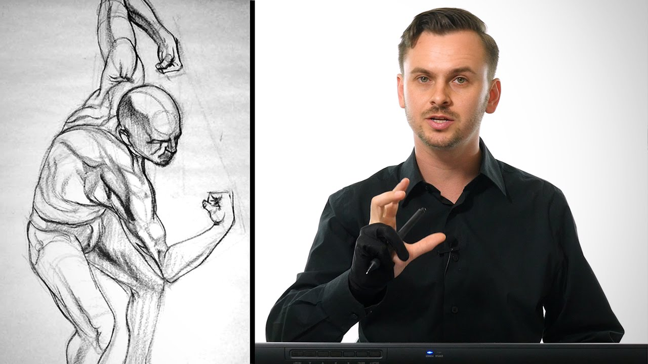 Anatomy Drawing Critiques - The Upper Back - YouTube