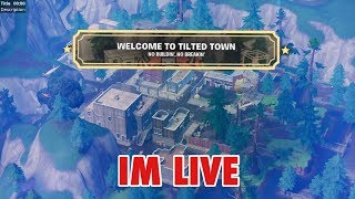LIVE! Fortnite New Tilted Town No Build Area - New Automatic Sniper (GIVEAWAYS!)