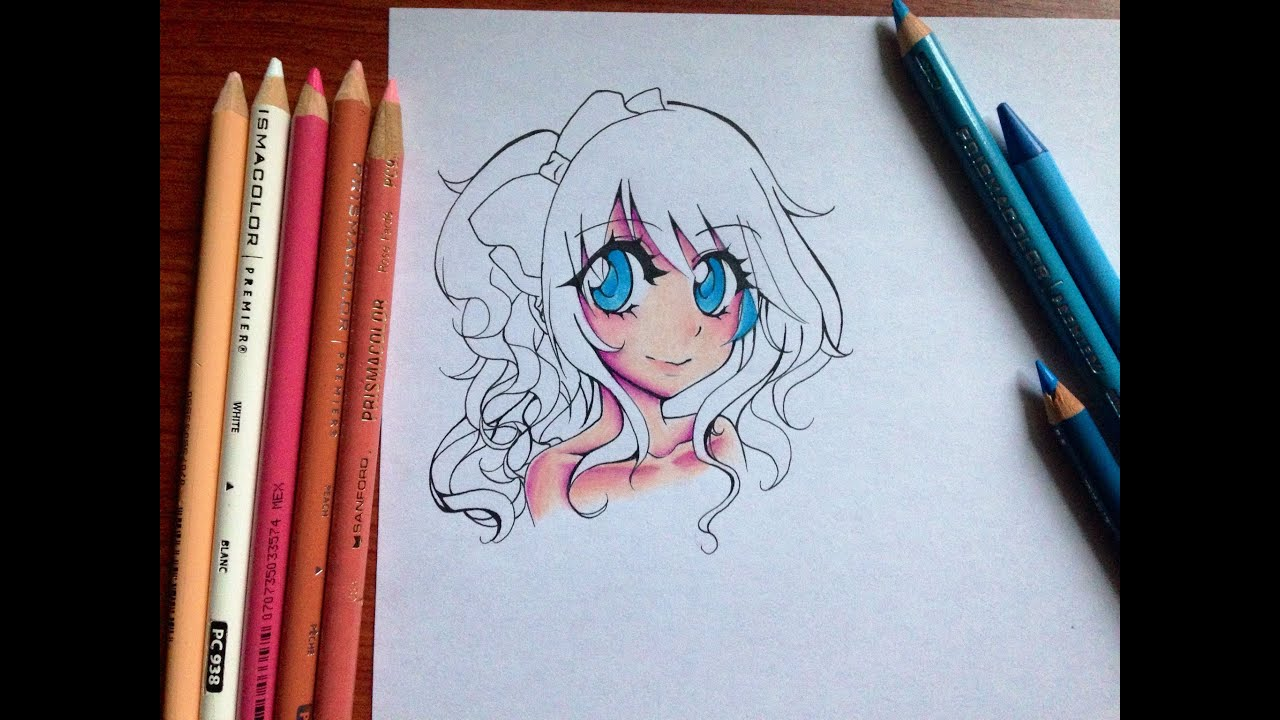 Tutorial: How to color Manga Skin and Eyes with Colored Pencils ...