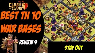 No Stars Given Away Last Clan War! | 275 Walls | Best TH10 War Base Design #9 | Clash of Clans