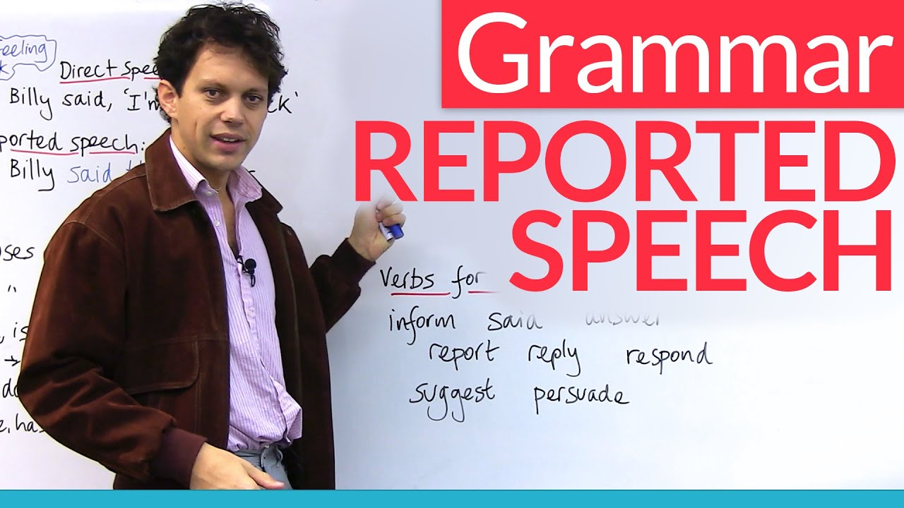 Learn English Grammar Reported Speech Indirect Speech