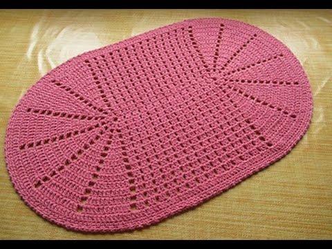 Tappeto Ovale Alluncinetto : Tappeto all uncinetto crochet centrino rosa antico youtube