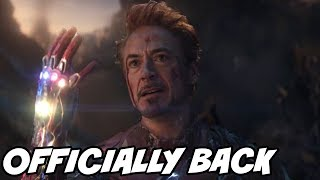 Marvel Officially Confirmed Tony Stark Iron man Return in Black Widow Movie Avengers Endgame