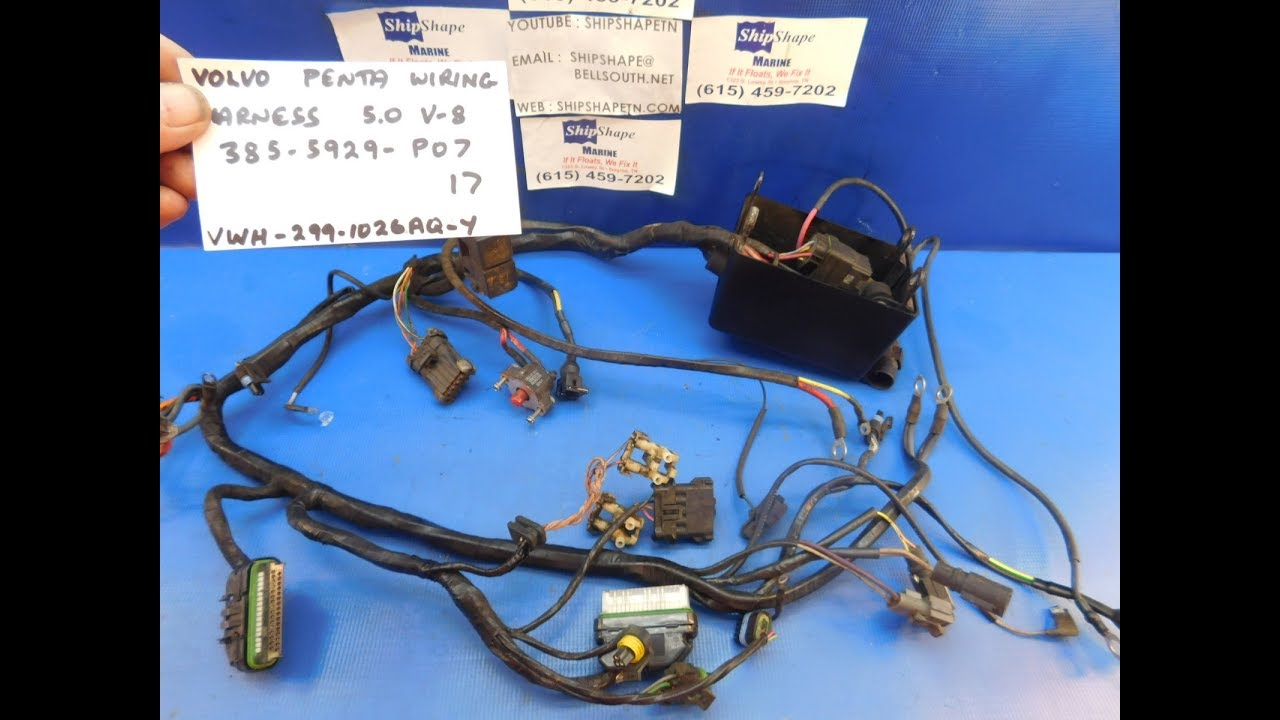 for sale volvo penta wiring harness 385 5929 p07 5 0 efi $299 95 f Volvo Penta Boat at Volvo Penta 4 3l Wire Harness