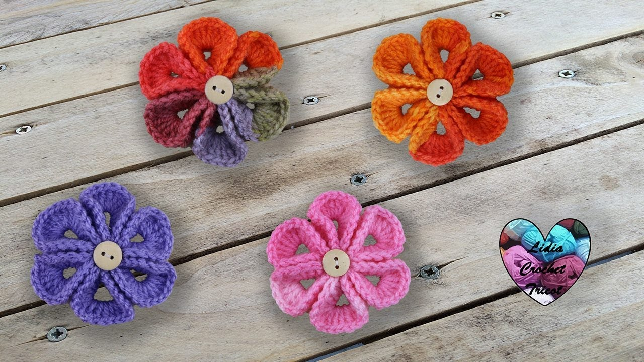 Fleurs Wiggly crochet facile - YouTube b1ee3e5d0f2