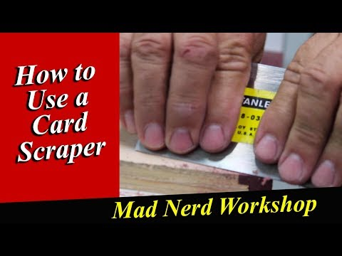 How To Use A Card Scraper *Mad Nerd Workshop *