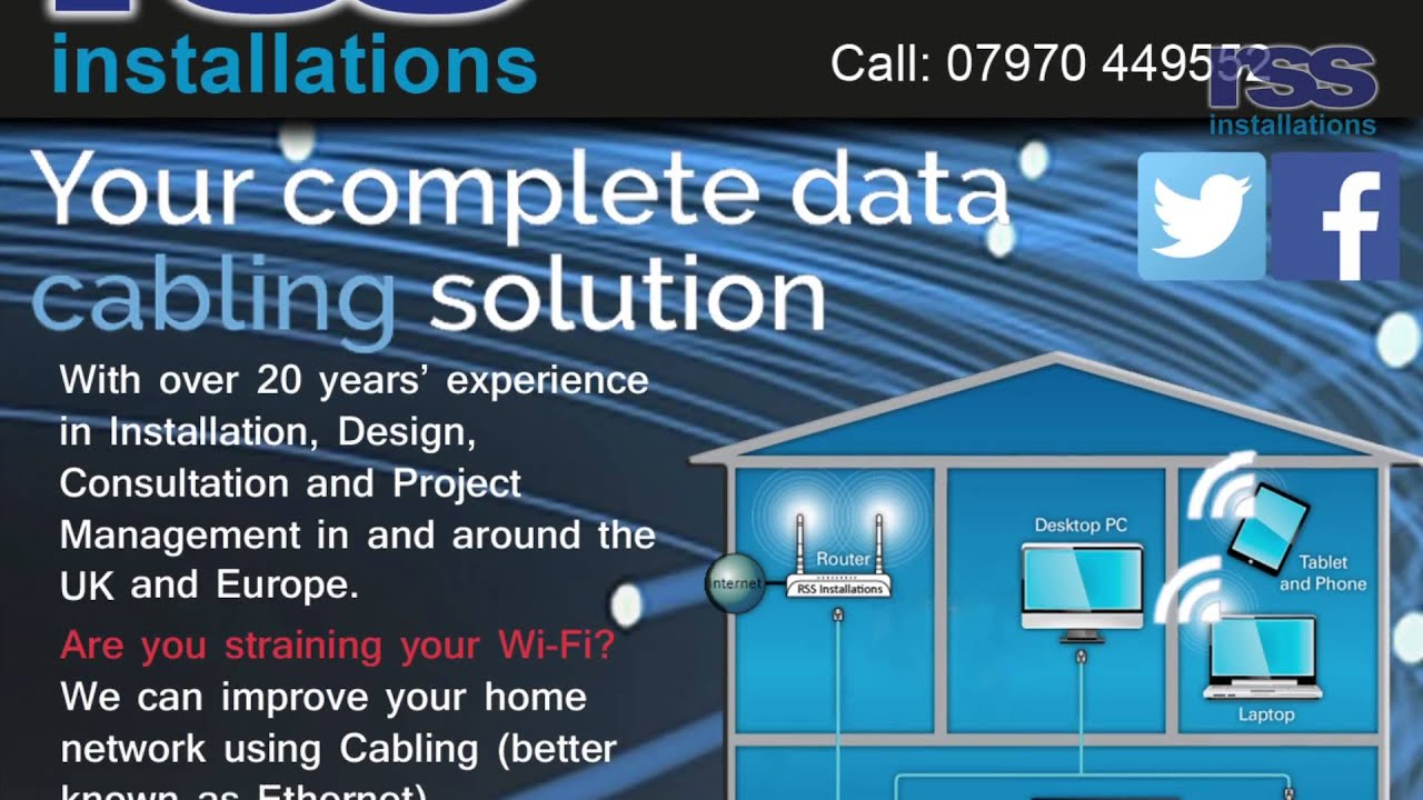 Rss Installations LTD Home Network Video 1 - YouTube