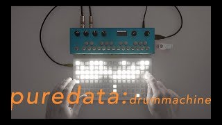 monome grid organelle pure data drum machine