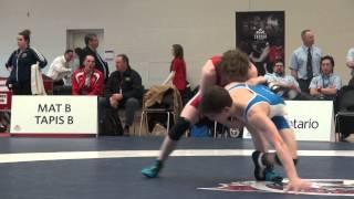 2015 JR CDN NAT FS55kg Josh Bodnarchuk (Sask) vs Eric Renaud (Lonwest)