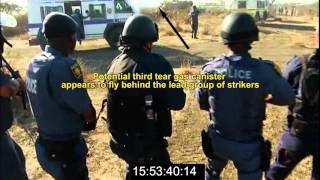Marikana: Annexure V4   Video presentation on the use of tear gas and stun grenades...