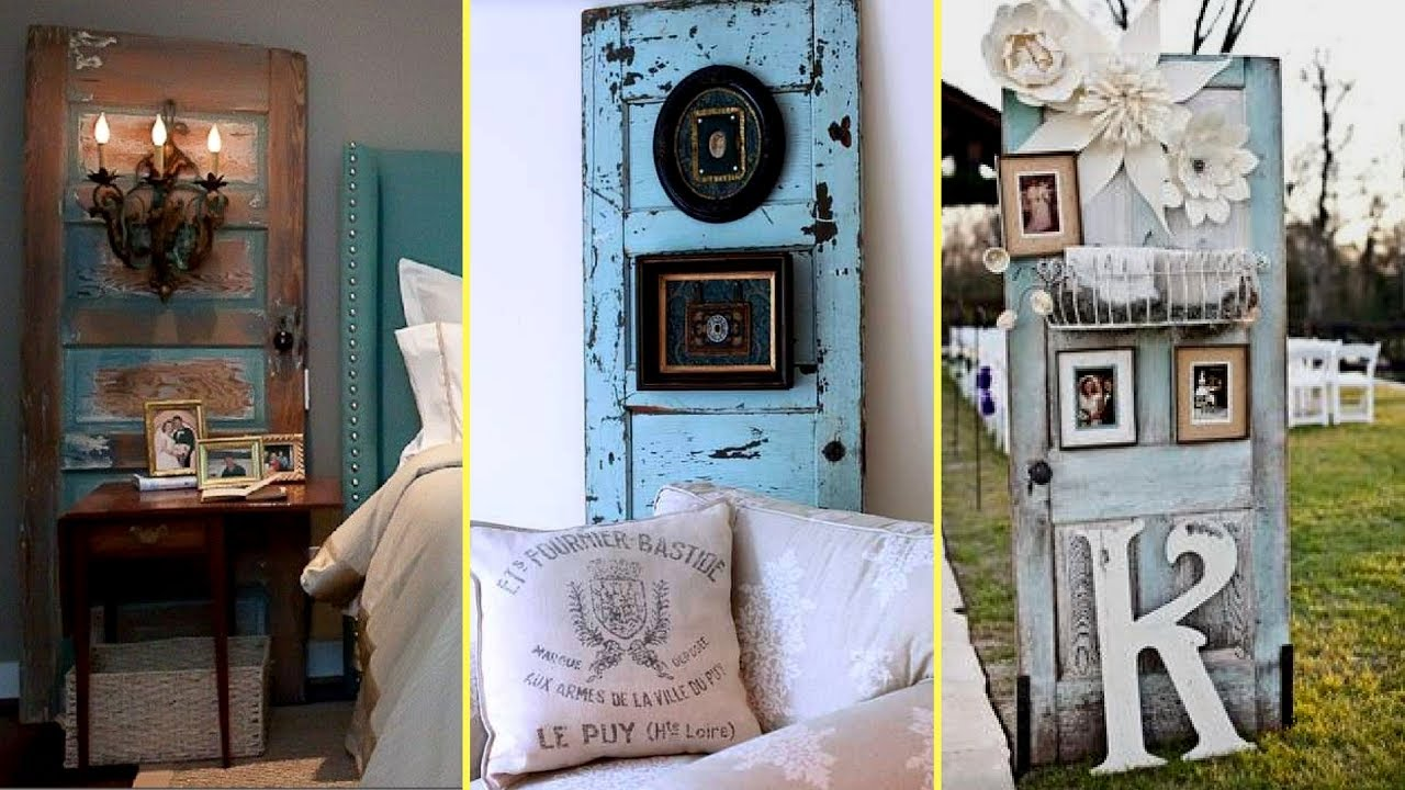 Diy Repurposed Furniture Ideas Old Door Recycling Home Decor Ideas 2017