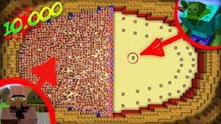 1000 KÖYLÜ VS 1 ZOMBİ - Minecraft