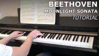 """Бетховен: """"Лунная"""" Соната №14 (обучение) Tutorial"""
