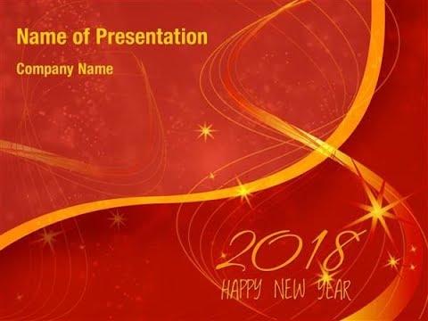 New Year 2018 PowerPoint Template Backgrounds - DigitalOfficePro