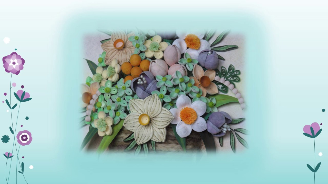 Original Paper Quilling Wall Art - Small Basket With ...