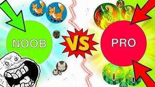 FUNNY NOOB vs. PRO in Balz.io - EPIC NEW Agar.io Game