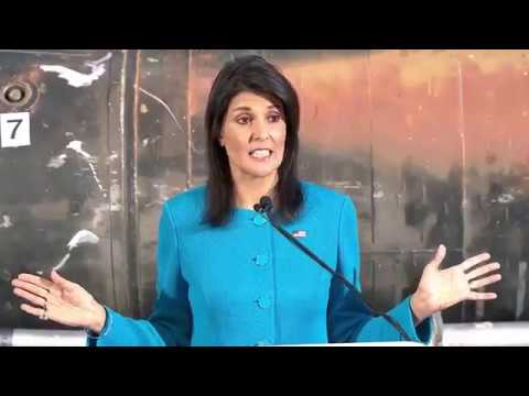 US Ambassador NIKKI HALEY Presents Evidence of IRAN's UN Violations 12/14/2017