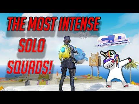 THE BEST SOLO SQUAD I'VE EVER PLAYED!!! OMG! (Creative Destruction)
