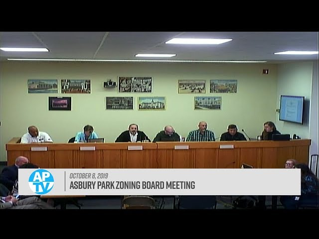 Asbury Park Zoning Board Meeting - October 8, 2019