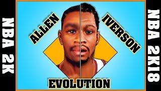 ALLEN IVERSON evolution [NBA 2K - NBA 2K18]