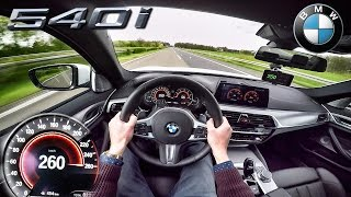 BMW 5 Series 2017 M Sport 540i G30 ACCELERATION & AUTOBAHN TOP SPEED POV by AutoTopNL