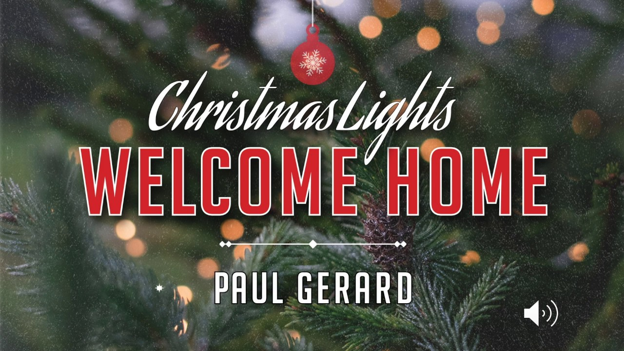 Christmas Lights Welcome Home By Paul Gerard