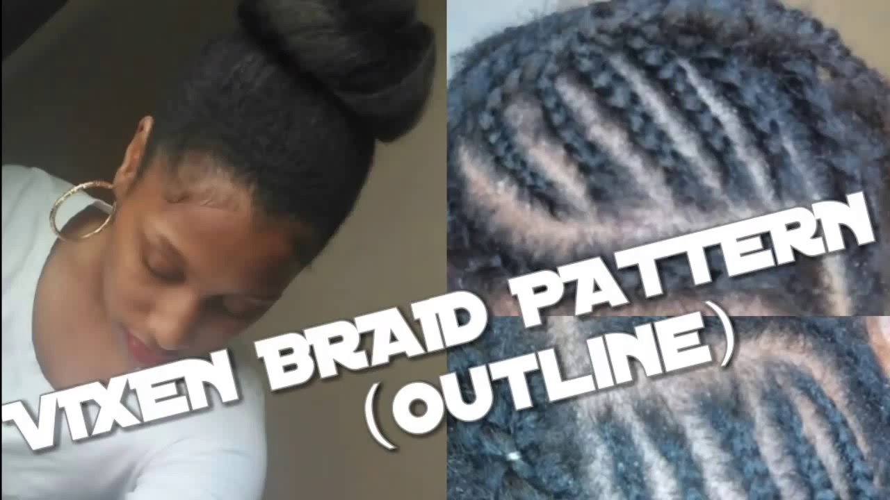 TUTORIAL DIY VIXEN Crochet Braid Pattern Outline YouTube - Diy braid pattern