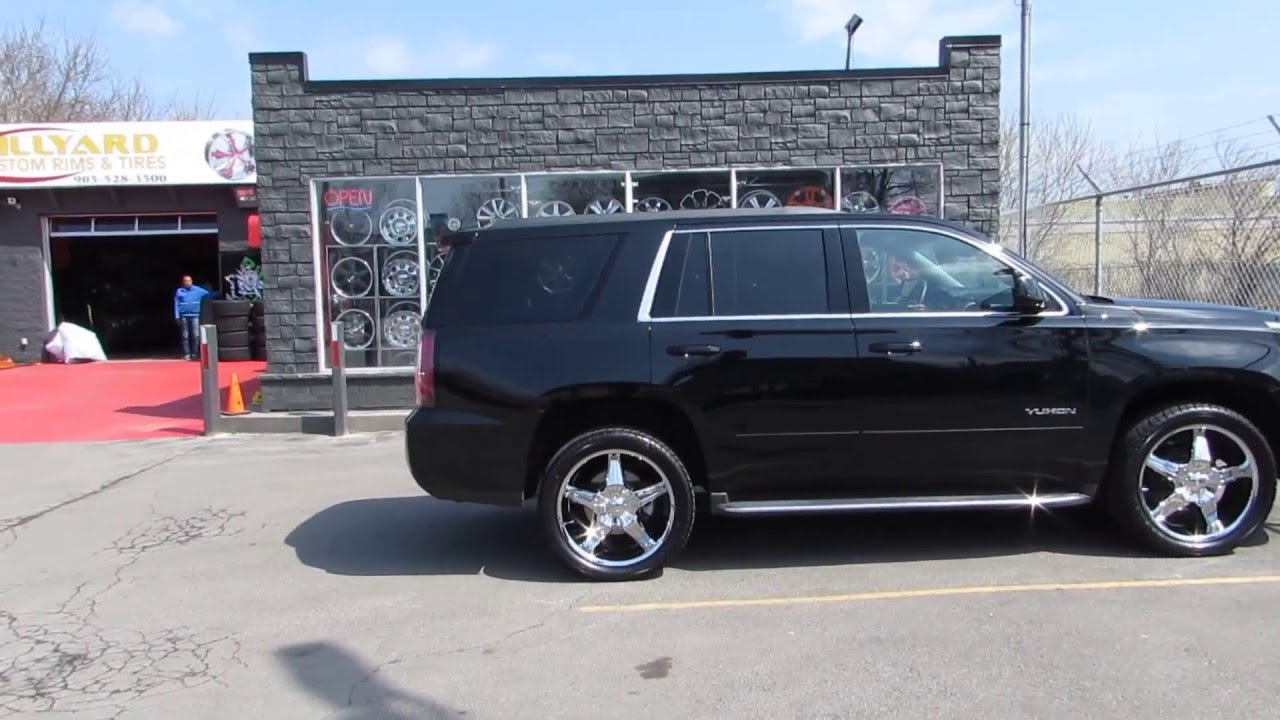 2017 Gmc Yukon With Custom 22 Inch Chrome Rims