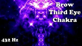 (POWERFUL 432 Hz) #6 BROW/THIRD EYE CHAKRA Activation and Balancing (15 minute meditation)