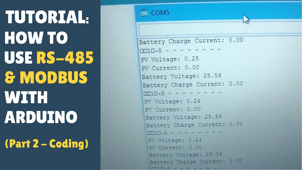 TUTORIAL: How To Use RS-485 TTL MODBUS - Arduino Controller Module (Part  2/2 - Wire Up) Solar