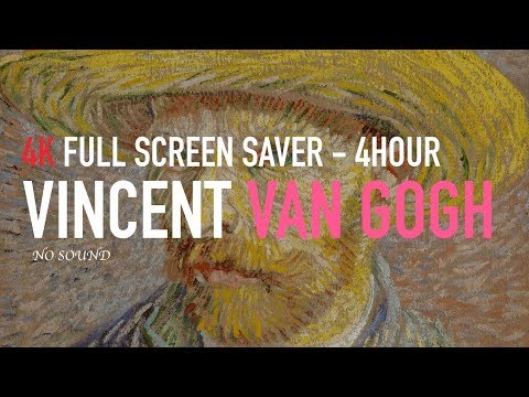 4K UHD Vincent Van Gogh Paintings 16:9 4hour Screen Saver Art Wall