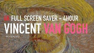 4K UHD Vincent Van Gogh Paintings 16:9 4hour Screen Saver Art Wall