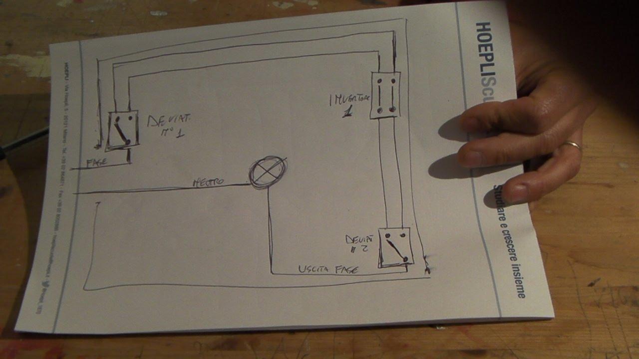 Come collegare una lampadina a tre punti di accensione diversi con