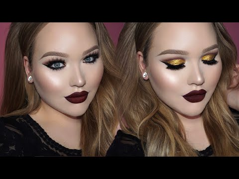 GOLD Cut Crease - Seductive Vampy Lips Makeup thumbnail