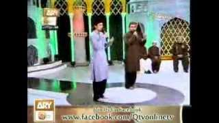 HAFIZ ZEESHAN ELAHI SIALVI VS TASADUQ RASOOL IN MARAHABA YA MUSTAFA SEASON 2 2013 ARY QTV