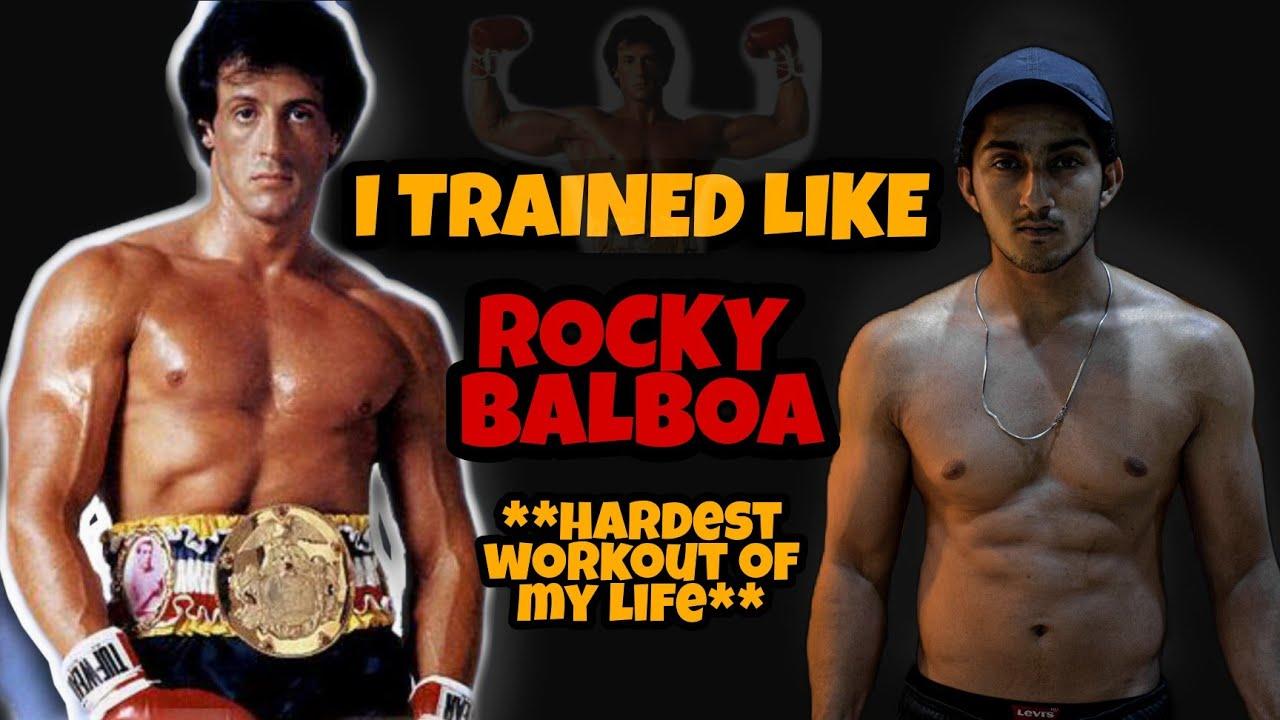 I TRAINED LIKE ROCKY BALBOA | ROCKY BALBOA WORKOUT MOTIVATION | Hardest Workout I have ever done?