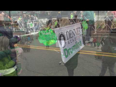 Denver Academy Drumline at St  Patricks Parade 2017