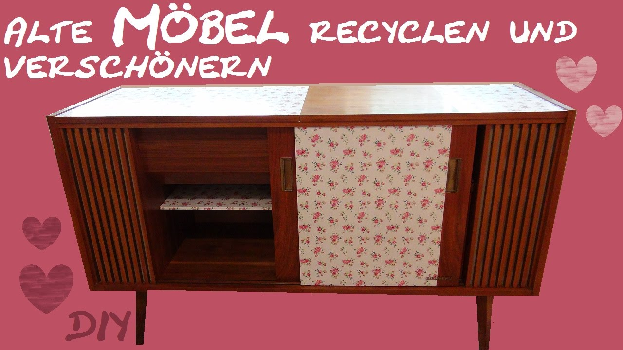 diy m bel ein alter schrank bekommt einen neuen look zimmer versch nern youtube. Black Bedroom Furniture Sets. Home Design Ideas