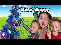 GIANT DINOSAUR Needs BABY Eggs! ANGRY Surprise Toy Adventure HobbyKidsTV