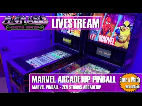 Marvel Arcade1Up Pinball Live Gameplay | MichaelBtheGameGenie from MichaelBtheGameGenie