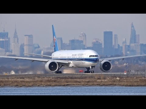 BIG Planes Taking Off From JFK Airport New York MD-11, A380, A340, B777, A330