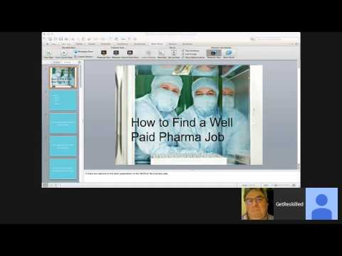 Find a Well Paid Job in Pharma (Webinar Recording)