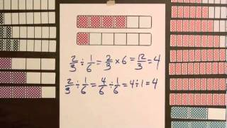 Division Step 1 - Model Dividing Fractions by Fractions (Video #19)