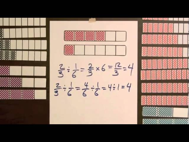 Dividing fractions with manipulatives lessons tes teach division step 1 model dividing fractions by fractions video 19 ccuart Images