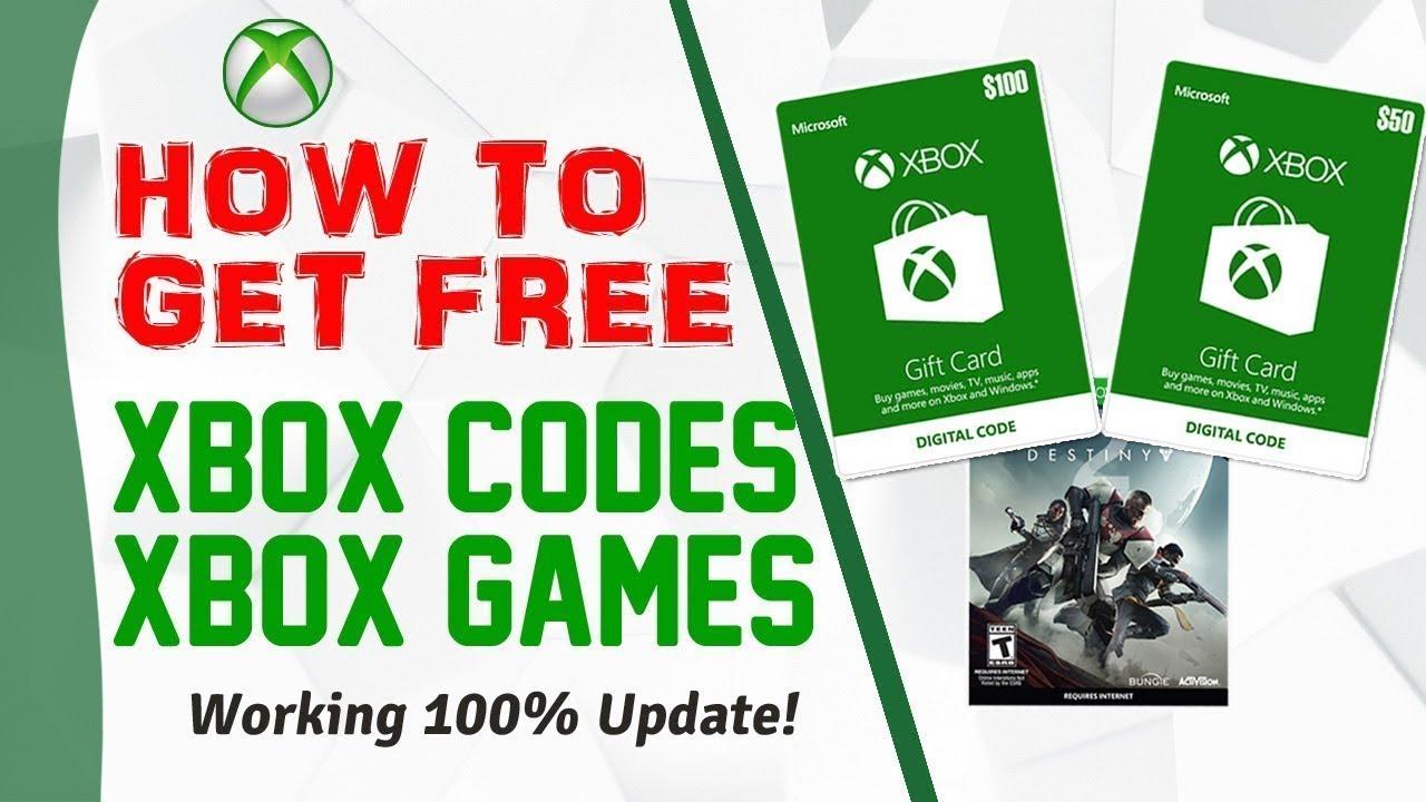 Xbox live codes free 2019