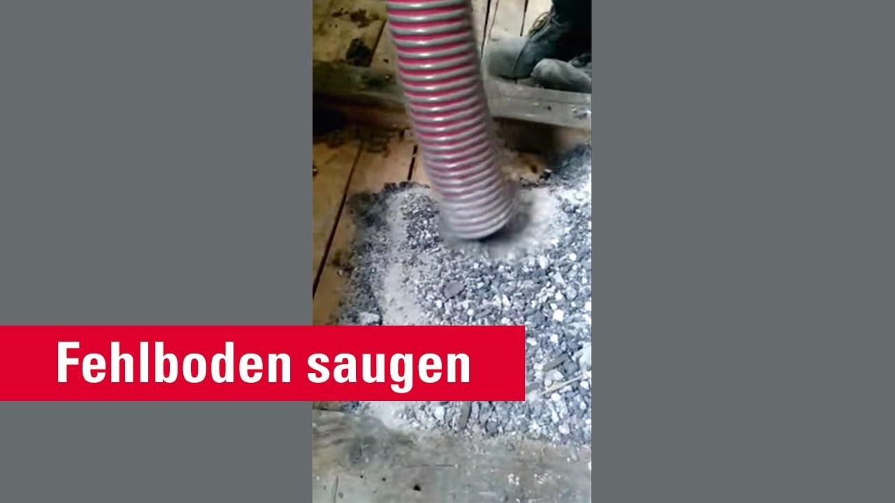 Dämmung Fußboden Schlacke ~ Mas fehlboden saugen dämmung saugen und räumen youtube